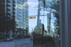 Bus Stop (-Maia-) Tags: city winter toronto reflection bus waiting ttc stop