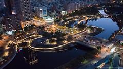 D8M_9911 (archiwu945) Tags: aerial 夜景 aerialphotography align 高雄市 晨昏 都市景觀 空拍 愛河之心 g35d m690l
