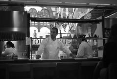Momiji Chef (Teremin2004) Tags: leica blackandwhite bw valencia digital restaurant rangefinder leicam8 summiluxm35mmf14 colonmarket