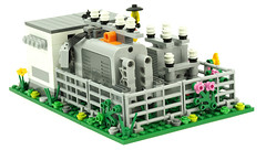 Rail Substation 03 (de-marco) Tags: city town lego electrical substation