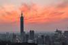 DSC_3880 (StagnantLife & Bearangel) Tags: city sunset cloud 35mm taiwan taipei101 f2d 1o1 虎山峰
