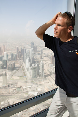 Chris at the Burj Kalif