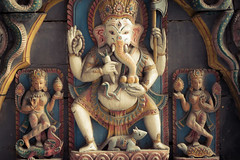 Ganesha (cwilson_0) Tags: wood nepal statue canon kathmandu hinduism
