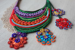 fiber art bib necklace - freeform crochet - lilac, red, green, orange, blue - beaded colorful flowers by irregularexpressions (irregular expressions) Tags: red orange necklace turquoise crochet cream jewelry lilac cotton wearableart persimmon fiberart fiber beaded textileart mustardyellow seedbeads rainbowcolors beadednecklace grassgreen freeformcrochet crochetflower artwear beadedflower delicabeads crochetnecklace crochetjewelry crochetlace glassseedbeads beadedcrochet crochetart textilejewelry cottonthread fiberjewelry lacenecklace cottonfiber irregularexpressions bibnecklace statementnecklace fibernecklace beadworknecklace textilenecklace statementjewelry oversizednecklace