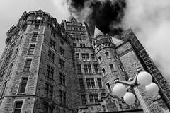 Confederation Building (nacim.khodja) Tags: blackandwhite building heritage tourism architecture landscape nikon cloudy outdoor gothique parliamenthill patrimoine streetphotographie d7100