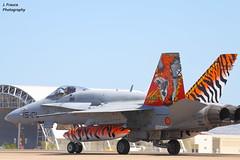 NTM 2016 - Tiger Meet Zaragoza - F-18 Hornet (Javier Frauca) Tags: canon aircraft tiger jet zaragoza hornet f18 avin meet militaryaviation 30d 2016 ntm tigermeet tigersquadron natotigermeet avincombate