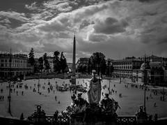 Piazza del Popolo, Rome (pegs_k) Tags: city sky italy white black rome nikon piazza dslr popolo eternal