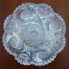 Wheaton, IL, Cut Glass Bowl Beauty (Mary Warren (6.7+ Million Views)) Tags: texture glass circle design bowl round cutglass wheatonil