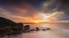 The secret place (ImagesByLin) Tags: ocean longexposure sea water clouds sunrise canon moody colours cloudy dramatic australia rockformation