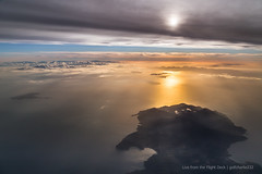Elba at sunset (gc232) Tags: from above light sunset sea italy cloud seascape window clouds plane sunrise canon airplane landscape golden fly flying elba view angle live seat flight wide jet aerial deck hour 24mm 6d drone 24105mm 24105l golfcharlie232