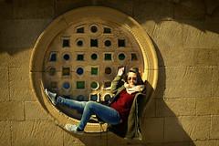 Circulacion (F SoGel :-)) Tags: portrait espaa muro pared retrato asturias paula cimadevilla gijon vidriera piedra circula laboratoriofsg