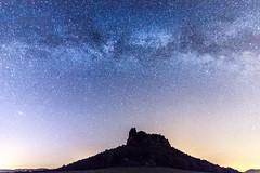"""Milkey Way over the """"Lilienstein"""" (DA Foto) Tags: nature night stars nacht saxony natur sachsen stern milkyway lilienstein milchstrase"""