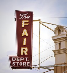 The Fair Dept. Store (Rob Sneed) Tags: sign rural vintage neon texas outdoor text departmentstore script smalltown cuero countyseat gobblers texana southeasttexas dewittcounty thefairdeptstore turkeycapitaloftheworld chisholmtrailcattleroute