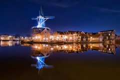 Haarlem (karinavera) Tags: city longexposure travel urban haarlem netherlands night mills waterreflection nikond5300