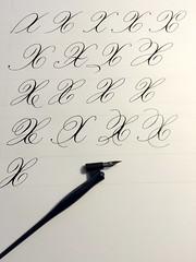 "la ""X"" (xelo garrigs) Tags: calligraphy copperplate caligrafa inglesa calligraphie calligrafia pointedpen fotosenstreaming"