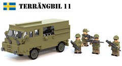 Terrngbil 11 (Matthew McCall) Tags: car truck army lego sweden military transport swedish vehicle soldiers minifigs apc