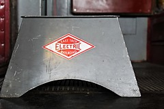 Step Up (Laurence's Pictures) Tags: railroad chicago car electric museum barn train workers bend trolley south traction rail railway troy tools line east shore repair transportation maintenance shops restoration motor interurban craftsman employee preseravtion