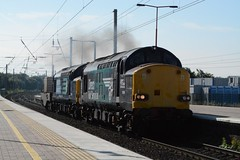 """Direct Rail Services Class 37/0's, 37069 & 37259 (37190 """"Dalzell"""") Tags: tractor northwestern compass ee revised growler wigan swoosh type3 drs englishelectric class37 37069 37259 37380 directrailservices class370 d6769 d6959"""