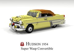 Hudson 1954 Super Wasp Convertible (lego911) Tags: hudson 1954 super wasp convertible auto car moc model miniland lego lego911 ldd render cad povray classic 1950s independent usa america chrome amc foitsop