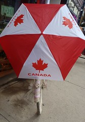 Random Goodness (Mr. Happy Face - Peace :)) Tags: red canada love umbrella happy weekend cycle mapleleaf canadaday flickrfriends partytime yyc albertabound july1st civicholiday flickrfriday cans2s art2016