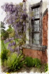 Springtime Joy (Audrey A Jackson) Tags: plants fern colour history texture window nature canon garden nationaltrust wisteria wightwickmanor 60d 1001nightsmagiccity smartphotoeditor