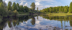 beloved homeland (Sergey S Ponomarev) Tags: paysage paesaggio summer spring reflections riflessi 2016 may forest woods meadow sky clouds light evening sunset panorama canon 70d ef24105f40l nature natura europe viatka vyatka wjatka kirov russia north nord sergeyponomarev