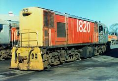 DI 1820 06/02/1987 Napier, NZ (DX 5517) Tags: ee englishelectric 1820 di1820 diclass napierlocodepot englishelectricaustralia australianexportlocomotive