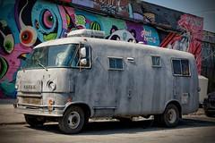 US-NY Brooklyn - Bushwick Dodge Bus 2016-04-11 (N-Blueion) Tags: