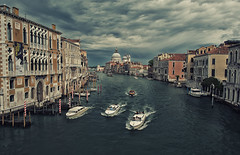 View of the Grand Canal from Ponte dell'Accademia
