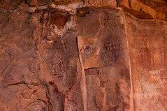 Palatki Heritage Site (Coconino National Forest) Tags: arizona forest outdoors unitedstates sedona nativeamerican redrocks rockart pictographs verdevalley coconinonationalforest rockpaintings forestservice usfs sinagua heritagesite redrockrangerdistrict