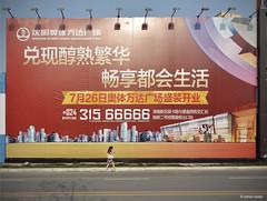Publicit (Stefan Bodar) Tags: voyage china street travel art photo pub nikon raw femme stefan asie jupe  rue publicit shenyang marche chine artistique jambe immobilier bodar