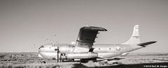 Grounded - But The Birds Still Fly (LostOzarkRambler) Tags: blackandwhite bw monochrome plane airplane aircraft aeroplane 20mm boeing wyoming nikond700 steampoweredaeroplane