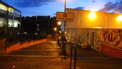 dawn approaching (byronv2) Tags: dawn night nuit nacht edinburgh edimbourg scotland colour blue edinburghbynight path steps stairs gorgie dalry telfersubway fountainbridge polwarth