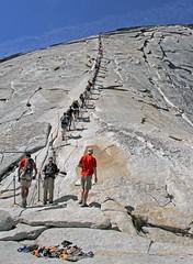 Half Dome / Yosemite National Park (Ron Wolf) Tags: california nationalpark hiking sierra climbing halfdome yosemitenationalpark