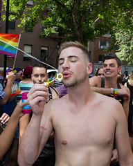 094A8665 v2 (Wheels Down) Tags: nyc gay friends shirtless pierced nipple streetphotography bubbles pride blow parade sparkle hottie piercednipple 2016