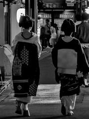 Gion Matsuri Party Time (Rekishi no Tabi) Tags: gion gionkobu gionmatsuri geiko maiko geisha apprenticegeisha apprenticegeiko japan kyoto monochrome leica
