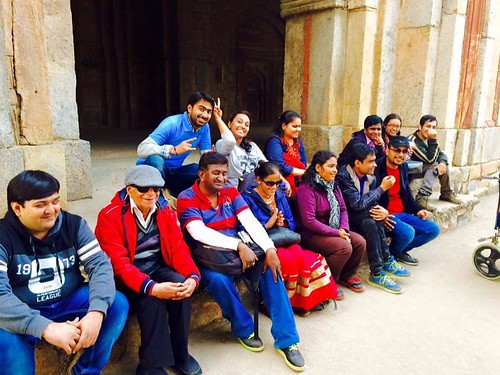 Accessible Tour of Qutub Minar: A group photo of all the happy travellers.