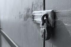 Locked (mme1998) Tags: beach calshot hampshire aonb coast coastline solent southampton summer nikon d3300 dslr water sea ocean sand lock padlock macro closeup huts beachhuts wood texture
