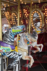 2012 Indiana State Fair (Rob Slaven.) Tags: horses horse color lights fairgrounds colorful indianapolis statefair events fear indiana running carousel fair terror rides scared