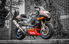 Aprilia (C.A.Photogenics) Tags: street bw colour motorbike aprilia