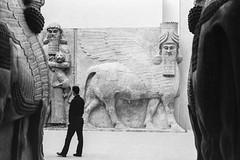 Dur-Sharrukin - Palais de Sargon II - Musée du Louvre (LaMolte) Tags: paris analog 50mm noiretblanc kodak louvre trix nb nikonfe argentique 400iso khorsabad dursharrukin lamolte
