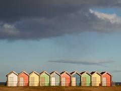 Beach Huts - Blyth (Gilli8888) Tags: wood sky beach clouds buildings seaside huts northumberland shore coastline beachhuts blyth woodenhuts blythbeach