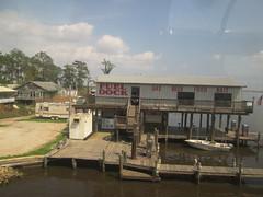 Pass Manchac docks - Fuel dock (Strannik45) Tags: publictransit publictransportation amtrak passengertrains illinoiscentralrailroad triplog canadiannationalrailroad thecityofneworleans longdistancetrains