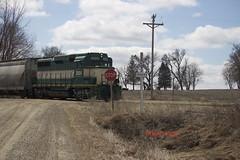 IARR032615ABBOT6 (eslade4) Tags: bulldozer excavator abbot gp30 excnw iarr iowariverrailroad iarr3004 exmstl exiac exarzc