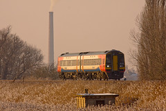 IMG_2174 (Kev Gregory) Tags: street sun liverpool landscape was frozen glow afternoon no working trains here class east norwich backdrop late service brickworks lime 11th february across seen passes 2012 fenland 158 midlands casts the 1152 dmu whittlesey 158788