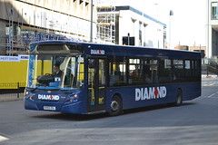 Rotala Group Blue Diamond 30490 KV03ZGL (Will Swain) Tags: city nottingham uk travel blue england west bus buses reading march birmingham britain centre transport group diamond 10th premiere newbury midland midlands 971 2015 3307 rotala 30490 kv03zgl