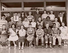 5th grade Riverside class photo - fall 1954