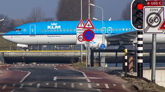 """KLM crossing the road • <a style=""""font-size:0.8em;"""" href=""""http://www.flickr.com/photos/125767964@N08/16934196211/"""" target=""""_blank"""">View on Flickr</a>"""