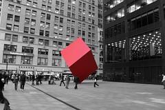 Manhattan's Red Cube (New York City, NY, U.S.A.)
