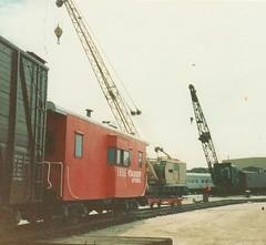 Old Railroad Photos (bslook1213) Tags: santa railroad santafe pacific crane caboose southern prototype mow fe steamlocomotive modelrailroading